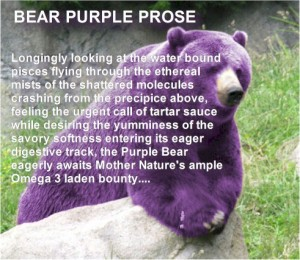 Bear Purple Prose